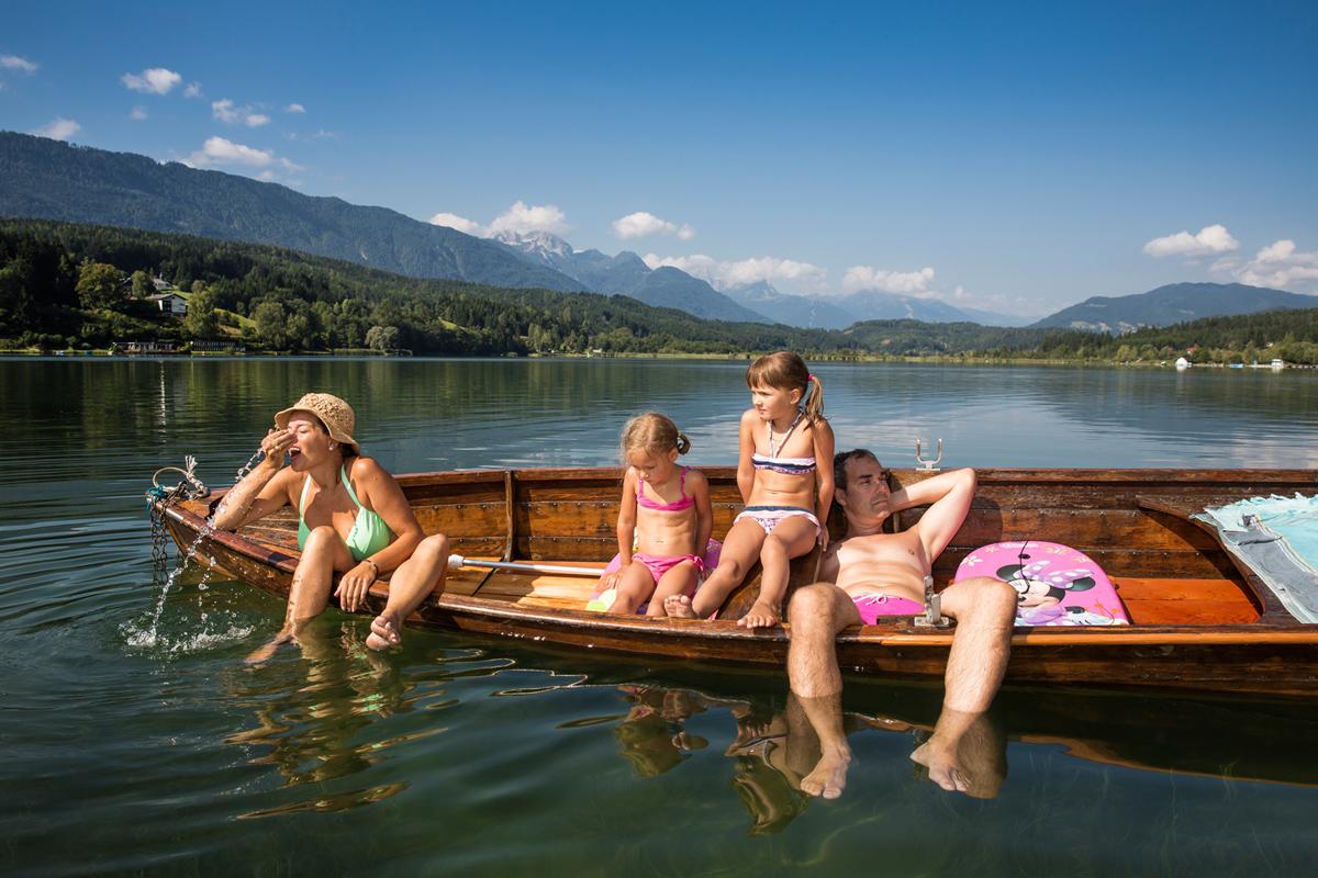 Presseggersee-Familienurlaub-Boot